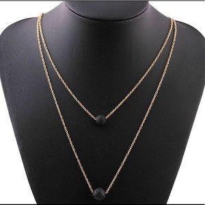 Aromatherapy Diffuser Lava Stone Necklace